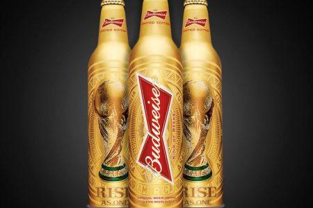 Budweiser launches gold aluminium bottles from mall//herlan