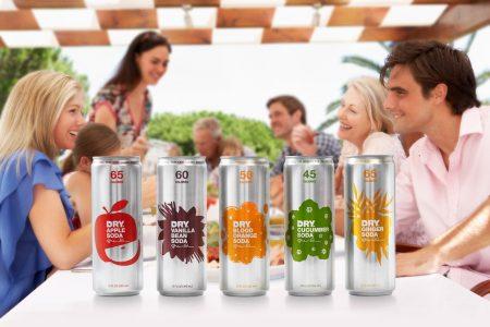 Sleek look for all natural sodas