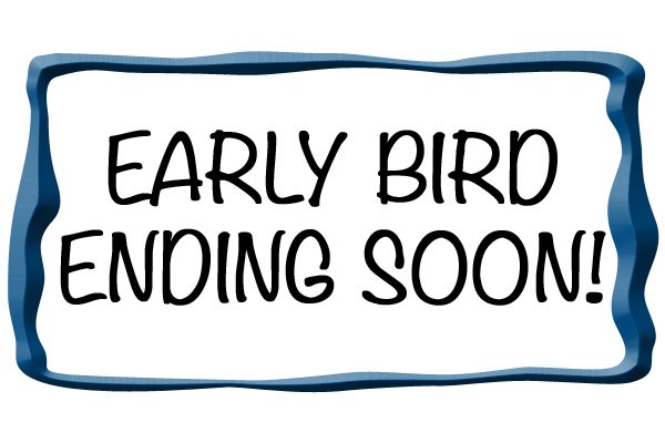Earlybird prices end soon!