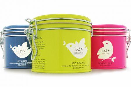 Crown creates tea tins with Løv Organic