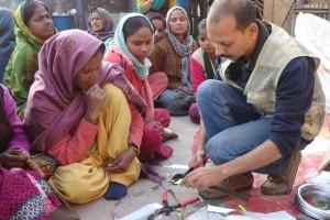 HTW organises creative design workshop for rag pickers