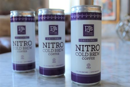 First canned RTD nitro cold brew from PJ's Coffee