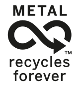 Never-ending recyclability of metal