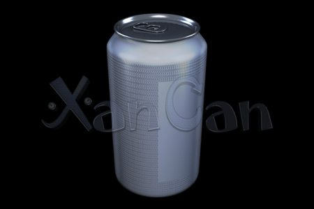 Textured beverage cans