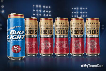Bud Light unveil Super Bowl can line