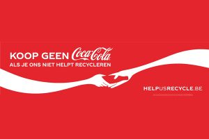 """Don't buy Coca-Cola if you're not going to help us recycle"""