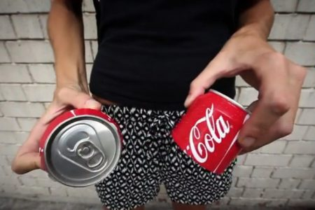 Coke unveils can that splits in two
