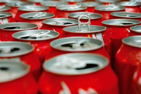 Coke cans the most dropped