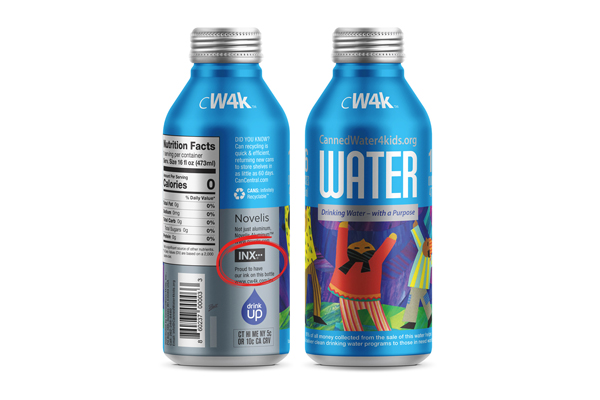 INX signs on as major sponsor of CannedWater4Kids