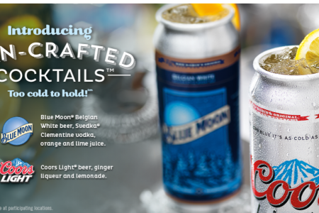 Beer cocktails in one-of-a-kind can