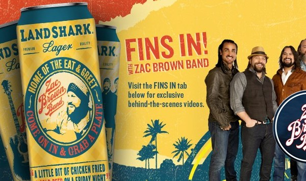 Landshark catches Zac Brown Band