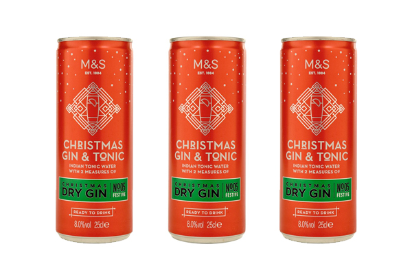 M&S launches festive gin & tonic in a can