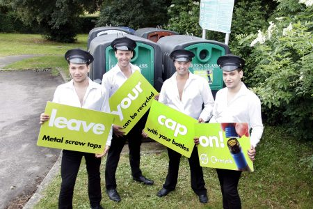 Europe's first aluminium caps and closures recycling drive