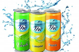 Soft drinks in cans