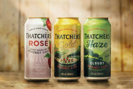 Thatchers lightweights its cider cans